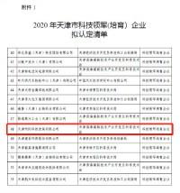 beplaysport体育beplaysport体育入选《2020年天津市beplaysport体育领军(培育)企业认定及支持项目》名单